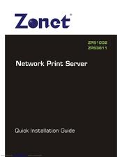Zonet 1 PORT USB Print Server ZPS1002