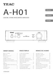 Teac A-H01 Manuals