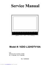 vizio l32hdtv10a service manual pdf download rh manualslib com vizio tv service manual vizio lcd tv repair manual