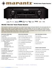 marantz slim line nr1402 manuals rh manualslib com Marantz NR1402 Review Marantz NR1403