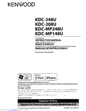 kenwood kdc 248u instruction manual pdf download rh manualslib com Old Kenwood Car Stereo Models Kenwood KDC 248U Manual