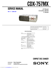 Sony 757MX - Xplod CDX CD Service Manual
