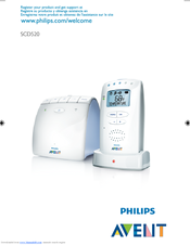Philips Avent DECT baby monitor SCD520 User Manual