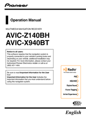 Pioneer AVIC-X940BT Operation Manual
