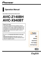 Pioneer AVIC-X940BT Operation Manual