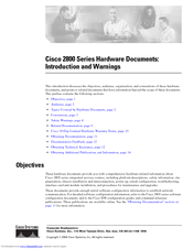 Cisco 2821 Series Manuals