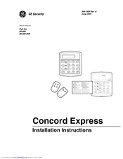 GE Concord express Installation Instructions Manual