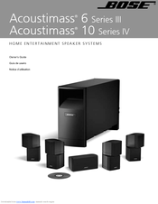 bose acoustimass 6 series iii manuals rh manualslib com bose acoustimass 6 instruction manual bose acoustimass 6 series 2 manual