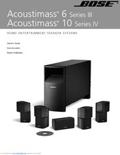 bose acoustimass 10 series iv owner s manual pdf download rh manualslib com bose acoustimass 10 series iv manual pdf Bose Acoustimass 10 Series IV Home Entertainment Speaker System