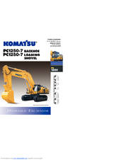 Komatsu Galeo PC1250-7 Backhoe Manuals