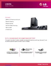 Lg Lsb316 Specification 2 Pages Speaker Sound Bar