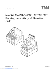 IBM SurePOS 722 Planning, Installation, And Operation Manual