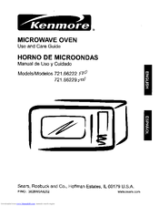 Kenmore 721.66222 Use And Care Manual
