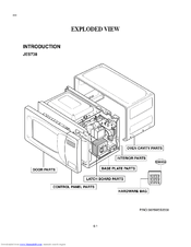 GE JES738WH - Countertop Microwave Oven Parts List (8 pages)
