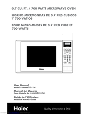 Haier MWM0701TW - 0.7 cu. Ft. 700 Watt Touch Microwave Manuals on