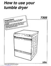 asko 7305 manuals rh manualslib com Gas Dryer Wiring Diagram Electric Dryer Wiring