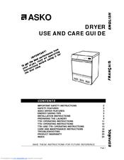 asko t701 manuals rh manualslib com asko t701 dryer repair manual asko dryer t701 troubleshooting
