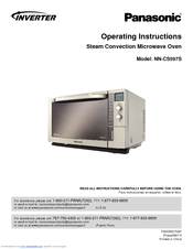 panasonic nncs597s steam convection microwave oven manuals rh manualslib com panasonic microwave oven nn-cd997s user manual Panasonic Microwave Ovens Countertop