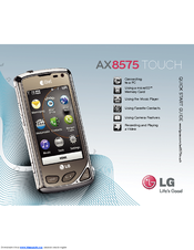 LG AX8575 Black Using Manual