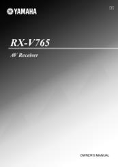 Yamaha RXV765 - RX AV Receiver Manuals