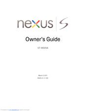 samsung nexus s gt i9020a manuals rh manualslib com Samsung Smart TV Owners Manual Verizon Samsung Flip Cell Phone