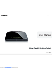 D-Link DGS-1008G Product Manual