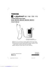 toshiba megf60s owner s manual pdf download rh manualslib com Toshiba Laptop User Manual Manual for Toshiba TV 43L511u18