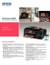 Epson artisan 835 quick manual pdf download.