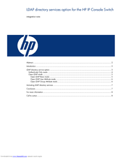 HP 1x1x16 - IP Console Switch KVM Integration Notes