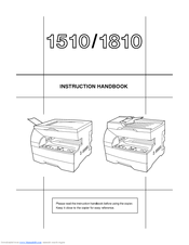 KYOCERA KM-1510 INSTRUCTION HANDBOOK MANUAL Pdf Download