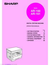 sharp ar 161 manuals rh manualslib com Sharp AR M205 Printer Driver Sharps AR- 15