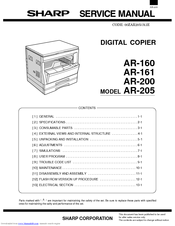 sharp ar 161 manuals rh manualslib com Sharp AR M237 Toner Sharp AR M237 Toner