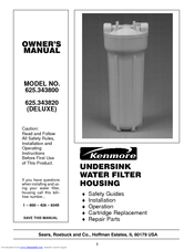 KENMORE 625.343820 Deluxe Owner's Manual
