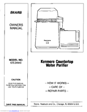 KENMORE 625.34440 Owner's Manual