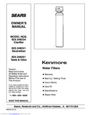 KENMORE 625.348241 Manual