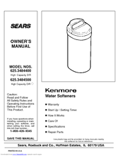 KENMORE KENMORE 625.34844 Owner's Manual