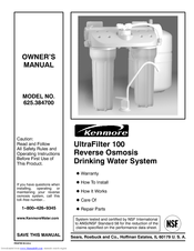 KENMORE UltraFilter 100 Manual