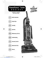 bissell powerforce bagless upright vacuum manual