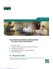Cisco 2100 Series Quick Start Manual