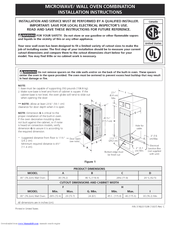 Electrolux E30MC75JSS Installation Instructions Manual