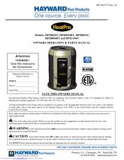 hayward heatpro hp21104t manuals rh manualslib com hayward heat pro pool heater manual hayward titanium heat pro manual