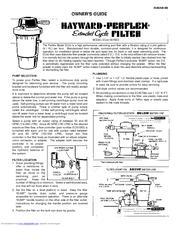 Hayward perflex filter manual.