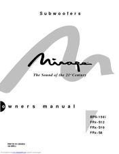 mirage frx s10 subwoofer manual