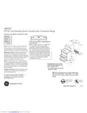 GE JB870STSS Dimensions And Installation Information