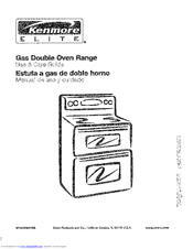 "Kenmore 40299 24"" manual clean gas wall oven black."