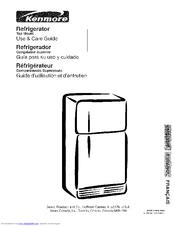 kenmore 253 series manuals rh manualslib com Sears Kenmore Refrigerator Model 253 Sears Kenmore Refrigerator Model 253