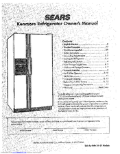Kenmore Side by Side 24 Owner's Manual