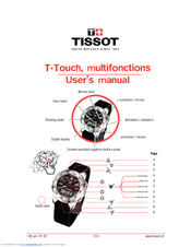 tissot t touch user manual pdf download rh manualslib com tissot touch instruction manual tissot t-touch instruction manual