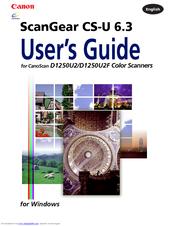 Canon CanoScan D1250U2 ScanGear CS-U Driver Download