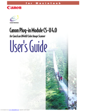 Canon CanoScan D646U User Manual